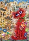 The Red Cat :: Art Puzzle