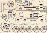 Ugears fidget - Rescue Car_