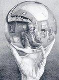 Hand met bol :: M.C. Escher
