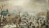 Winterlandschap met schaatsers :: Hendrick Averkamp