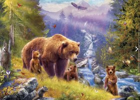 Eurographics 500 (XL) - Grizzly Cubs