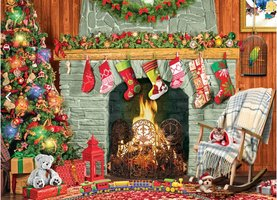 Eurographics 500 (XL) - Christmas by the Fireplace