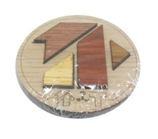 Wooden mini puzzle: T
