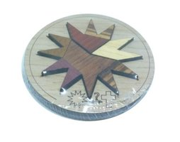 Wooden mini puzzle: Holy Star