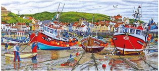 Gibsons 636 - Seagulls at Staithes (Uitloop)