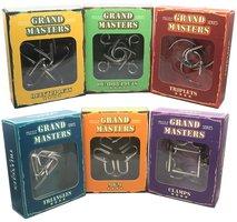 Grand Masters voordeelpakket: set van 6 uitdagende metalen puzzels.