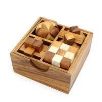 Box met 4 puzzels - set 3