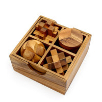 Box met 4 puzzels - set 2