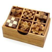 Box met 6 puzzels - set 1