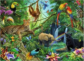 Ravensburger 200 (XXL) - Dieren in de Jungle