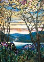 Piatnik 1000 - Louis Comfort Tiffany: Magnolias and Irises
