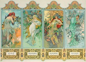 Eurographics 1000 - Alphonse Mucha: Four Seasons
