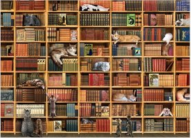 Cobble Hill 1000 - The Cat Library