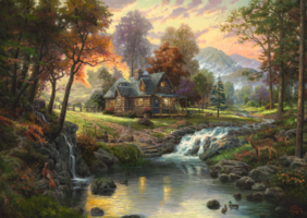 Thomas Kinkade 1000 - Mountain Retreat
