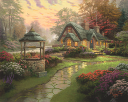 Thomas Kinkade 1000 - Make a Wish Cottage