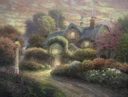 Thomas Kinkade 1000 - Rosebud Cottage