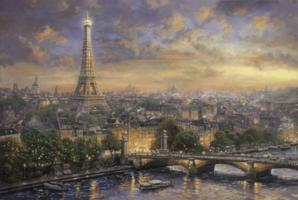 Thomas Kinkade 1000 - Paris City of Love