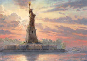 Thomas Kinkade 1000 - Statue of Liberty, met glow in the dark effect
