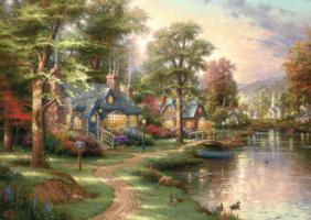 Thomas Kinkade 1500 - Hometown Lake