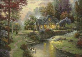 Thomas Kinkade 1000 - Stillwater Cottage