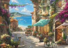Thomas Kinkade 1000 - Italian Cafe