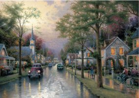 Thomas Kinkade 1000 - Hometown Morning