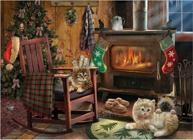 Cobble Hill 500 (XL) - Kittens by the Stove