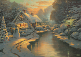 Thomas Kinkade 1000 - Christmas Evening