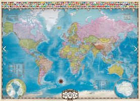 Eurographics 1000 - Map of the World with Flags