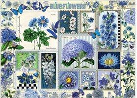 Cobble Hill 1000 - Blue Flowers