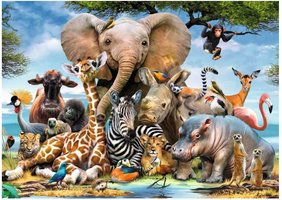 Ravensburger 300 (XXL) - Afrikaanse Vrienden