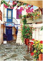 Art Puzzle 260 XL - Courtyard with Flowers