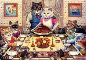 Art Puzzle 260 XL - Feline Family Feast