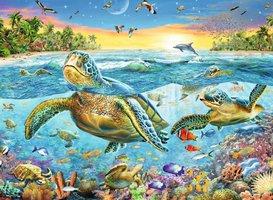 Ravensburger 100 (XXL) - Zeeschildpadden