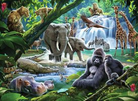 Ravensburger 100 (XXL) - Jungle Dieren