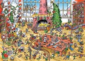 Cobble Hill 1000 - DoodleTown: Elves at Work