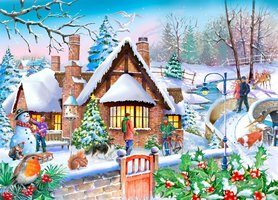 House of Puzzles 250 (XL) - Snowy Cottage