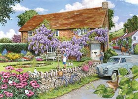 House of Puzzles 250 (XL) - Wisteria Cottage