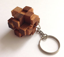 Sleutelhanger - 3D Square