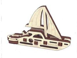 Ugears fidget - Zeilboot