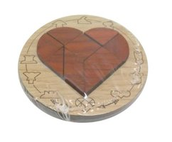 Wooden mini puzzle: Broken Heart