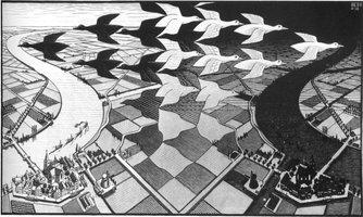 M. C. Escher - Dag en Nacht