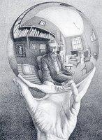M.C. Escher - Hand met bol