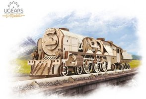 Ugears - V-Express Steam Train with Tender