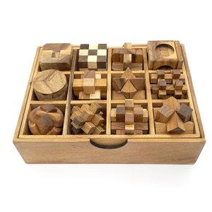 Box met 12 puzzels :: Breinbrekers