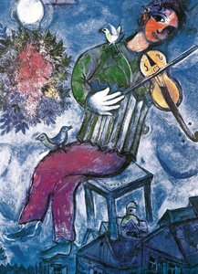 Chagall The Blue Violinist