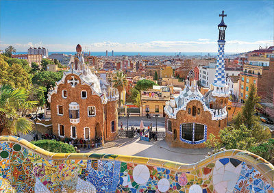 Barcelona View from Park Güell :: Educa