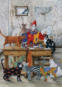 The Coloured Cats :: Art Puzzle