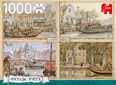 Canal Boats :: Anton Pieck