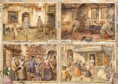 Bakkers uit de 19e eeuw :: Anton Pieck